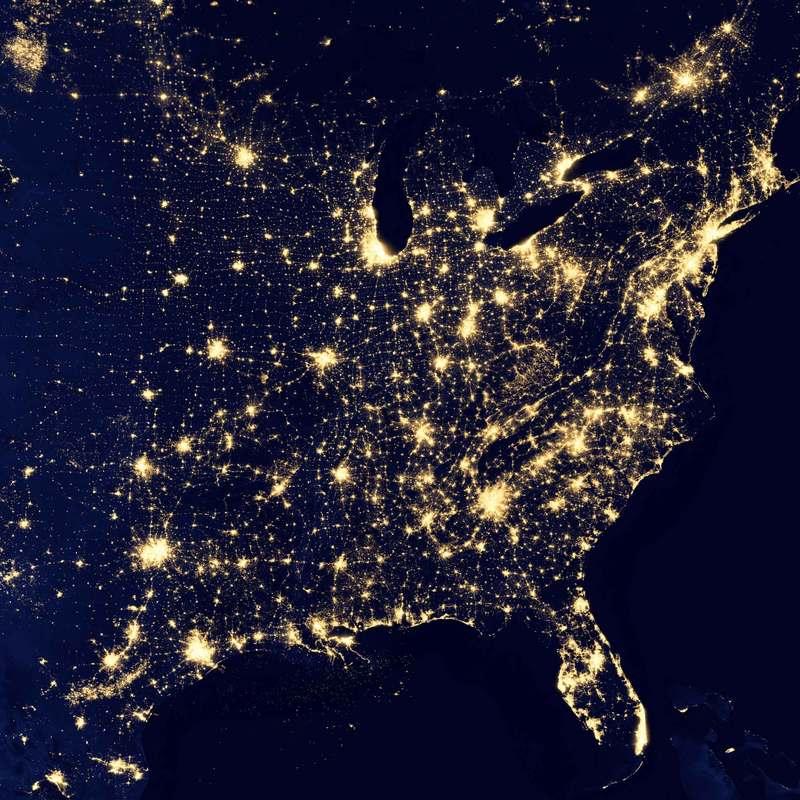 terre vue satellite nuit Philippe Chiambaretta Stream 03  PCA-Stream