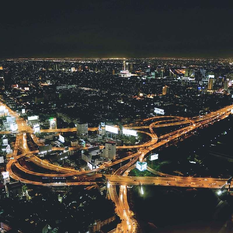 autoroutes urbaines de nuit Christian de Portzamparc Stream 03  PCA-Stream