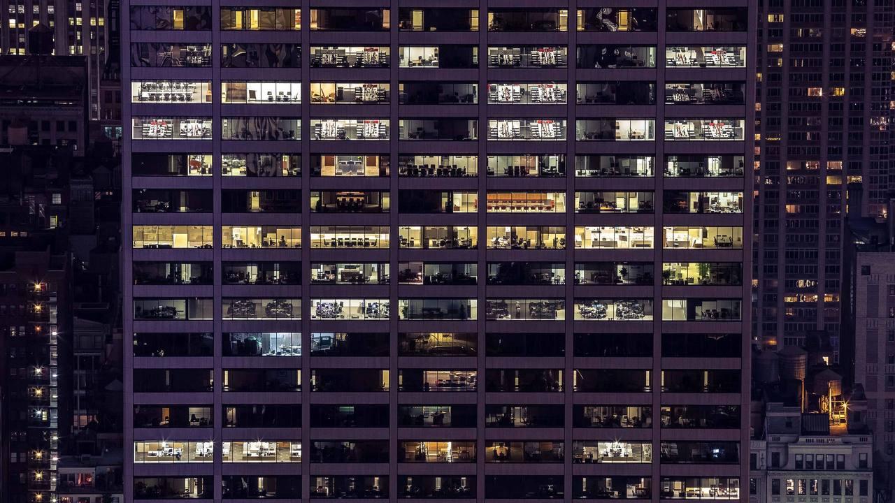 Immeuble de bureau de nuit Frank Duffy Stream 02 PCA-STREAM